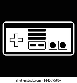 Game Console in Flat Style Design Vector isolated on Black Background