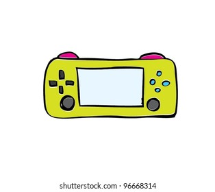 Game Console Gadget And Joypad With Color