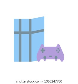 Game Console, Playing Game, Fun Icon - Vector