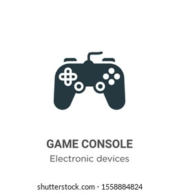 Game console vector icon on white background. Flat vector game console icon symbol sign from modern electronic devices collection for mobile concept and web apps design.