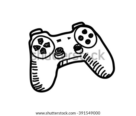 Game Controller Doodle Hand Drawn Vector Stock Vector Royalty Free
