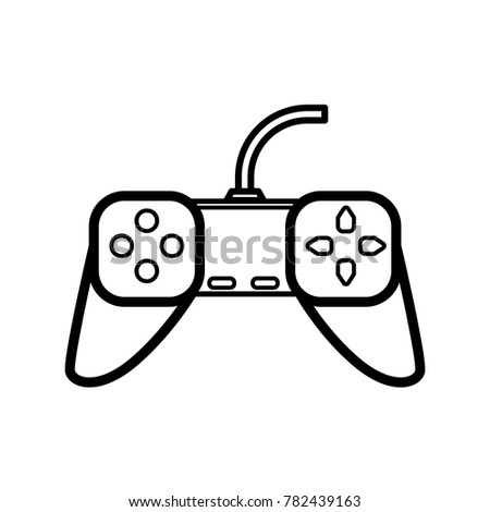 Game Controller Icon Outline Stock Vector Royalty Free - Game outline