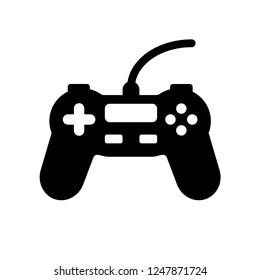 Game controller icon, game controller simple element illustration