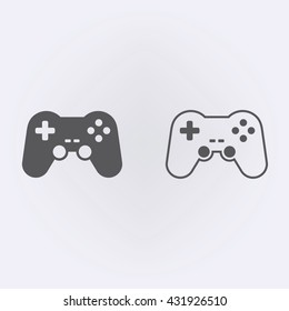 Game controller icon . Vector illustration