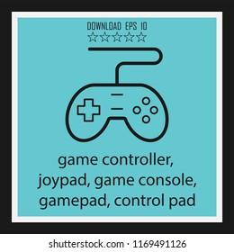 game controller, joypad, gamepad vector icon