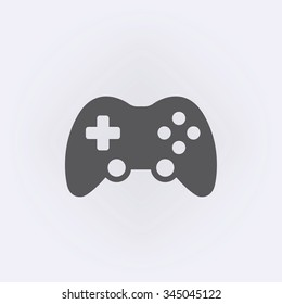 Game controller or joystick icon . Vector illustration