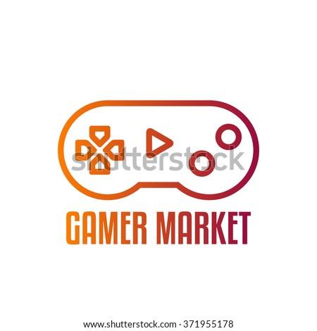 game controller logo template joystick logo stock vector royalty