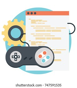 Game Development and video games marketing Vector Icon