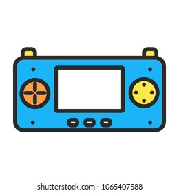 game device illustration symbol object. Flat icon style concept design