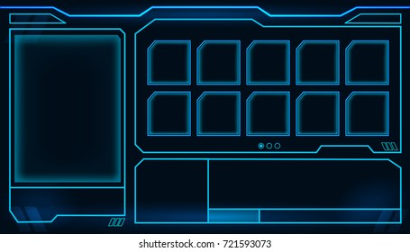 Game display vector technology concept design.