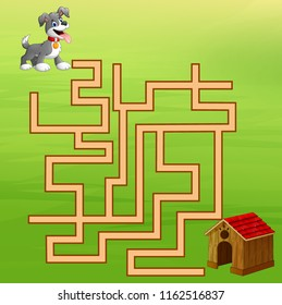 Game dog maze find way to the home