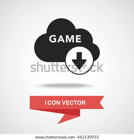 Game Download Icon Stock Vector (Royalty Free) 462130933
