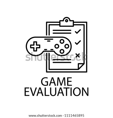 Game Evaluation Outline Icon Element Gaming Stock Vector Royalty - Game outline