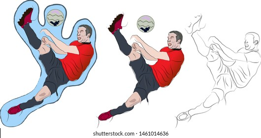 Game football playing graphic design vector art work