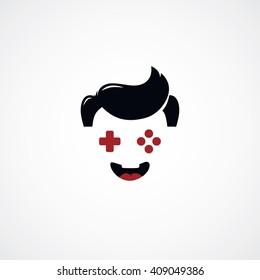 game freak - video game joystick logotype