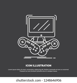 Game Gaming Internet Multiplayer Online Icon Stock Vector (Royalty