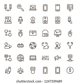 Game icon set. Collection of high quality black outline logo for web site design and mobile apps. Vector illustration on a white background.
