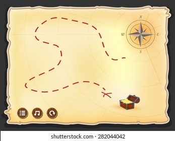 game interface treasure Map illustration