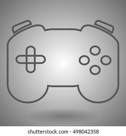 Game isolated minimal single flat linear icon for application and info-graphic