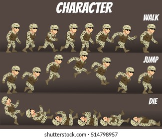 Game Kits Adventure (Character Sprite Soldier Man)