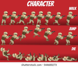 Game Kits Adventure (Character Sprite Soldier With gun)