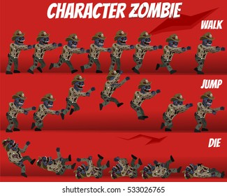 Game Kits Adventure Design (Character Sprite Zombie Police)