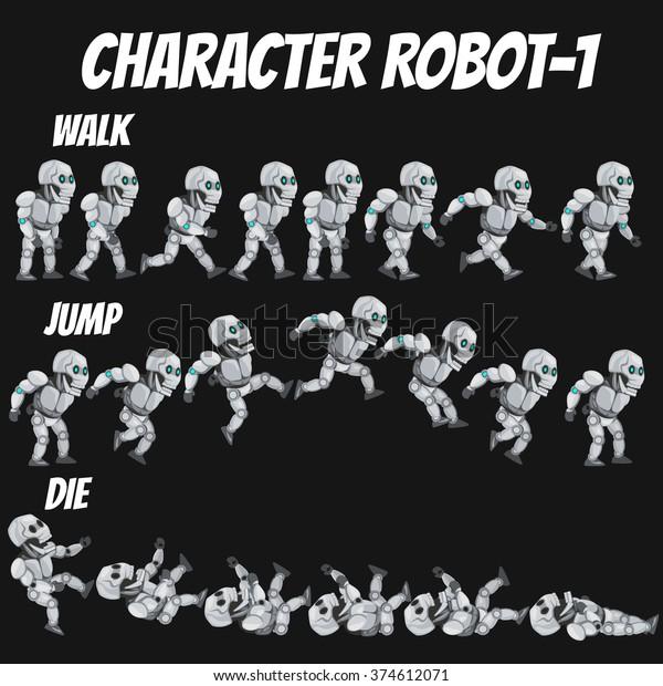 Game Kits Adventure Design Character Sprite Stock Vector