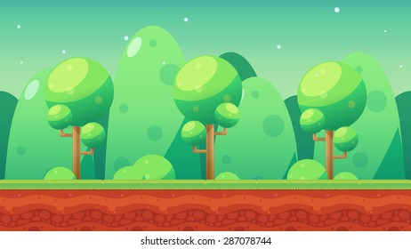 Game Kits adventure design (green mountain background 1)