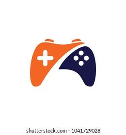 Game Logo Design Template. Stick Game Icon Logo.