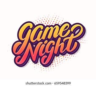 Game night banner.