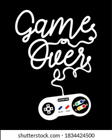 game over design for print t shirt and more