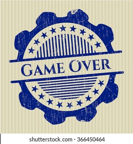 Game Over rubber texture