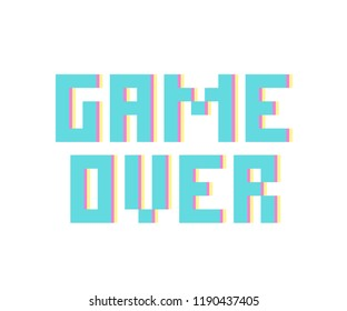 Game Over,t-shirt graphic,tee design,vector