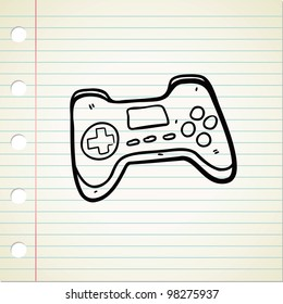 game pad in doodle style