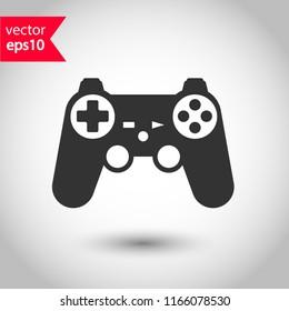 Game pad vector icon. Joystick sign. Joystick icon. EPS 10 flat symbol.