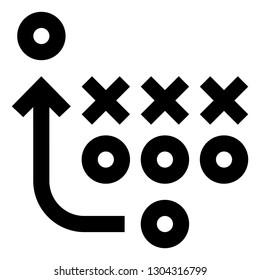 Game Plan Vector Icon