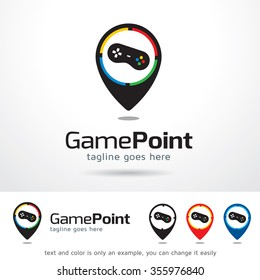 Game Point Logo Template Design Vector