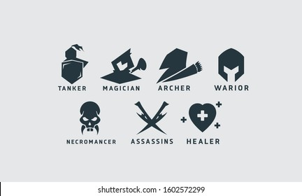 Game RPG class simple icon
