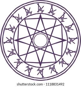 Game rune summon  circle