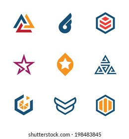 The game of star success business company icon set logo