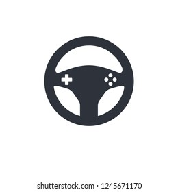 game streering wheel drive icon vector logo template