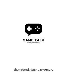 Game Talk Logo Design Vector