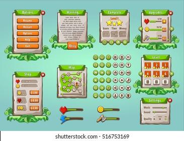Game Ui Images Stock Photos Vectors Shutterstock - Game ui design