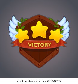 Game victory stars, cartoon assets for the game design