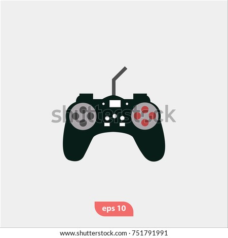 Gamepad Console Icon Game Controller Symbol Stock Vector Royalty