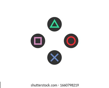 Gamepad control buttons icon. Vector illustration, flat design.