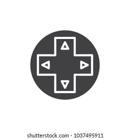 Gamepad control buttons vector icon. filled flat sign for mobile concept and web design. Gamepad control buttons vector icon simple solid icon. Symbol, logo illustration.