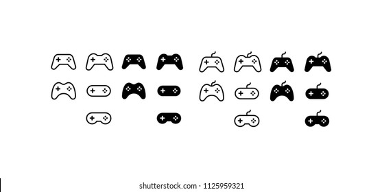Gamepad Icon Design Vector Symbol Game Joypad