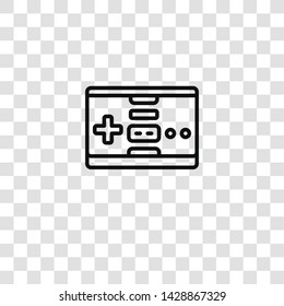 gamepad icon from gaming collection for mobile concept and web apps icon. Transparent outline, thin line gamepad icon for website design and mobile, app development