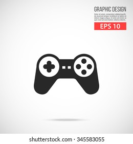 Gamepad icon. Modern flat design vector illustration, new trendy high quality abstract concept for web banners, web sites, infographics. Vector icon graphic art isolated on gradient background